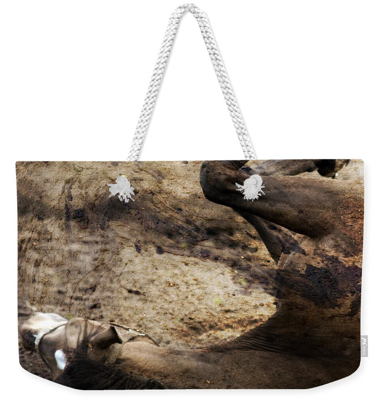 Horse Weekender Tote Bag featuring the photograph The Smell Of The Soil by Angel Ciesniarska
