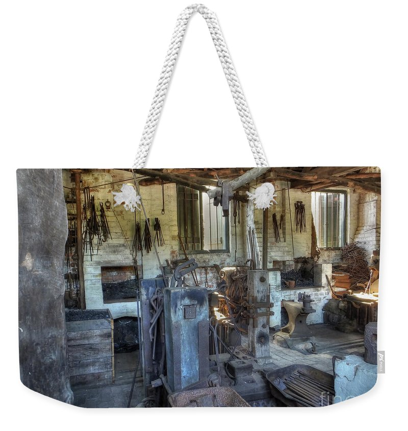 Smithy Weekender Tote Bag featuring the photograph The Smithy by Catchavista