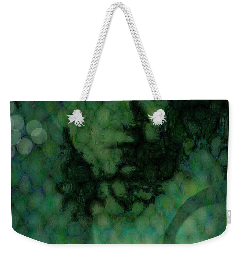Bizarre Weekender Tote Bag featuring the digital art The Snake Lady by Seth Weaver