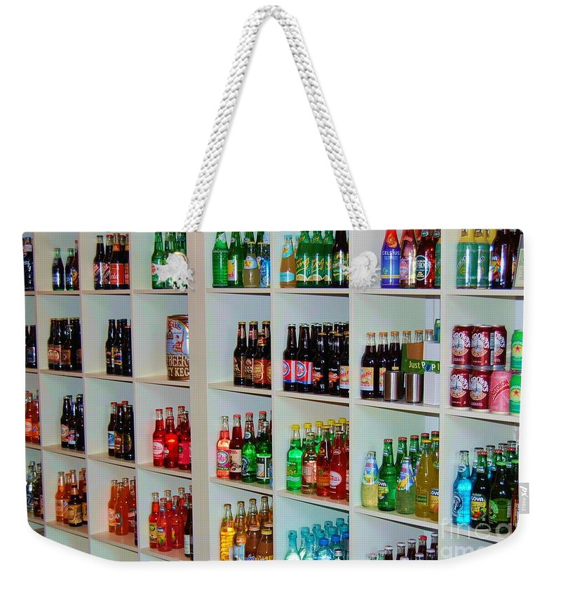Soda Weekender Tote Bag featuring the photograph The Soda Gallery by Debbi Granruth