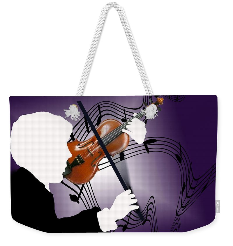 Violin Weekender Tote Bag featuring the digital art The Soloist by Steve Karol