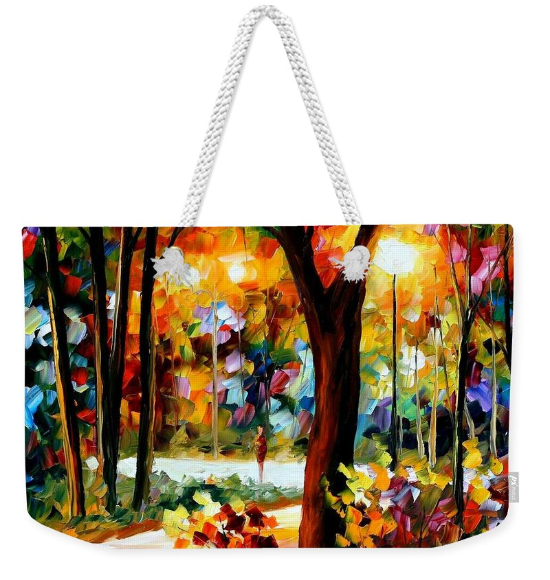 Afremov Weekender Tote Bag featuring the painting The Soul Of Night by Leonid Afremov