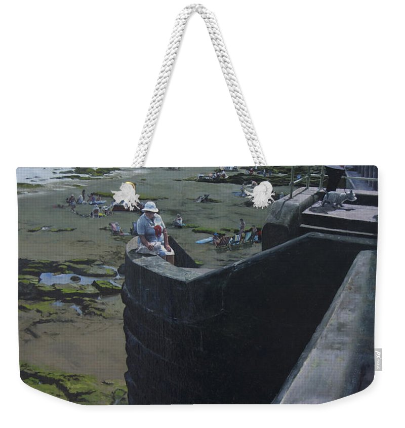 Britain Weekender Tote Bag featuring the painting The South Bay In Scarborough. by Harry Robertson