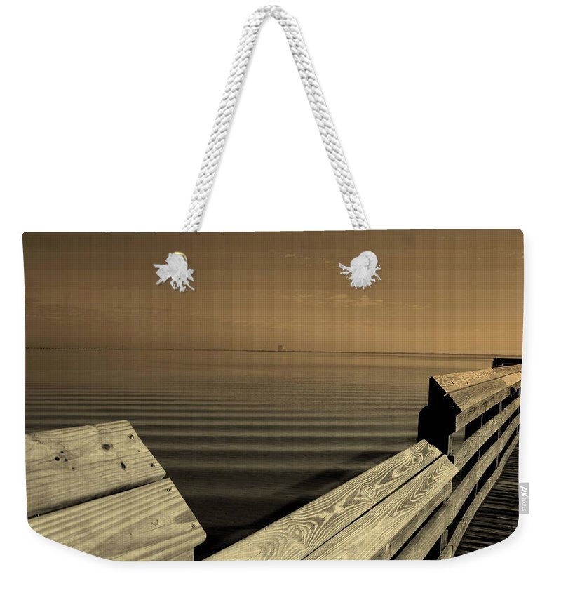 Pier Weekender Tote Bag featuring the photograph The Spot by Susanne Van Hulst