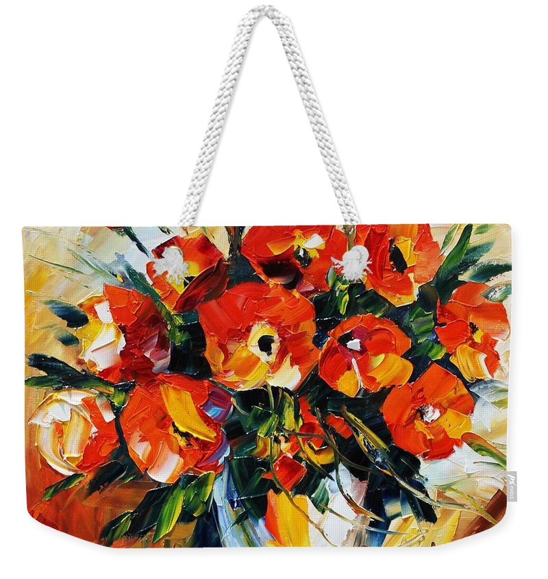 Afremov Weekender Tote Bag featuring the painting The Spring Is Here by Leonid Afremov