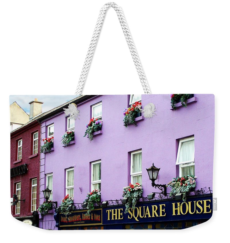Irish Weekender Tote Bag featuring the photograph The Square House Athlone Ireland by Teresa Mucha