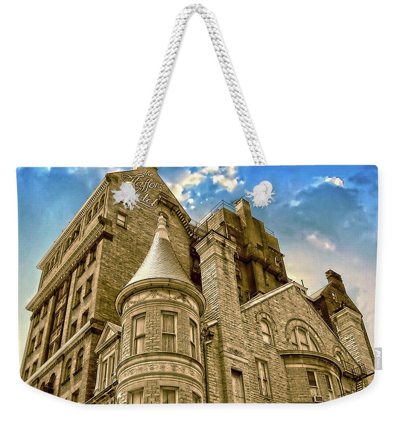 2d Weekender Tote Bag featuring the photograph The Stafford Hotel by Brian Wallace