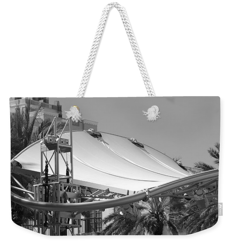 Black And White Weekender Tote Bag featuring the photograph The Stage by Rob Hans