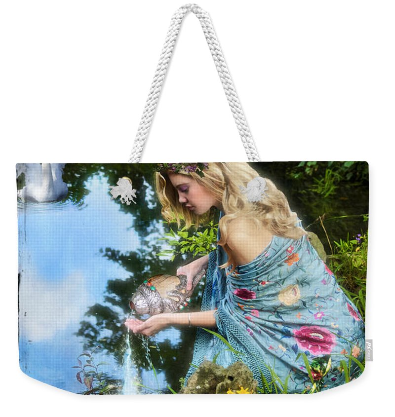 Divine Weekender Tote Bag featuring the digital art The Star by Tammy Wetzel