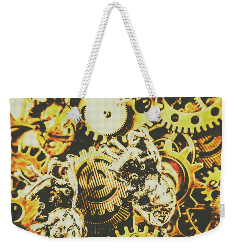 Design Weekender Tote Bag featuring the photograph The Steampunk Heart Design by Jorgo Photography - Wall Art Gallery