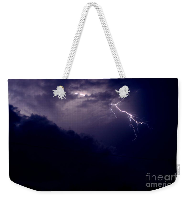 Sky Weekender Tote Bag featuring the photograph The Storm 1.3 by Joseph A Langley