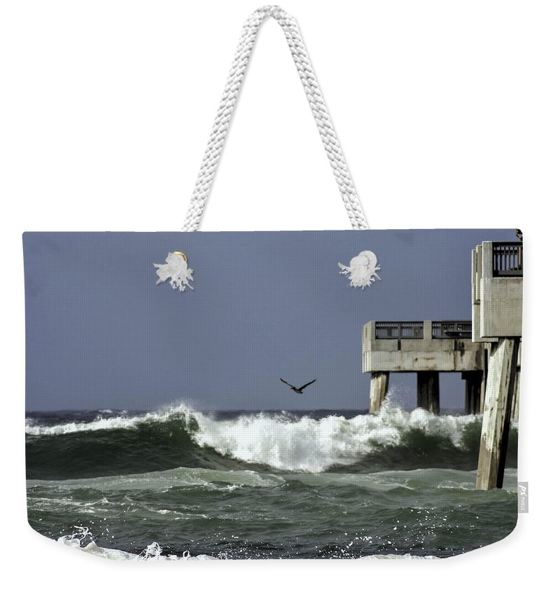 Hurricane Weekender Tote Bag featuring the photograph The Storm by Debra Forand