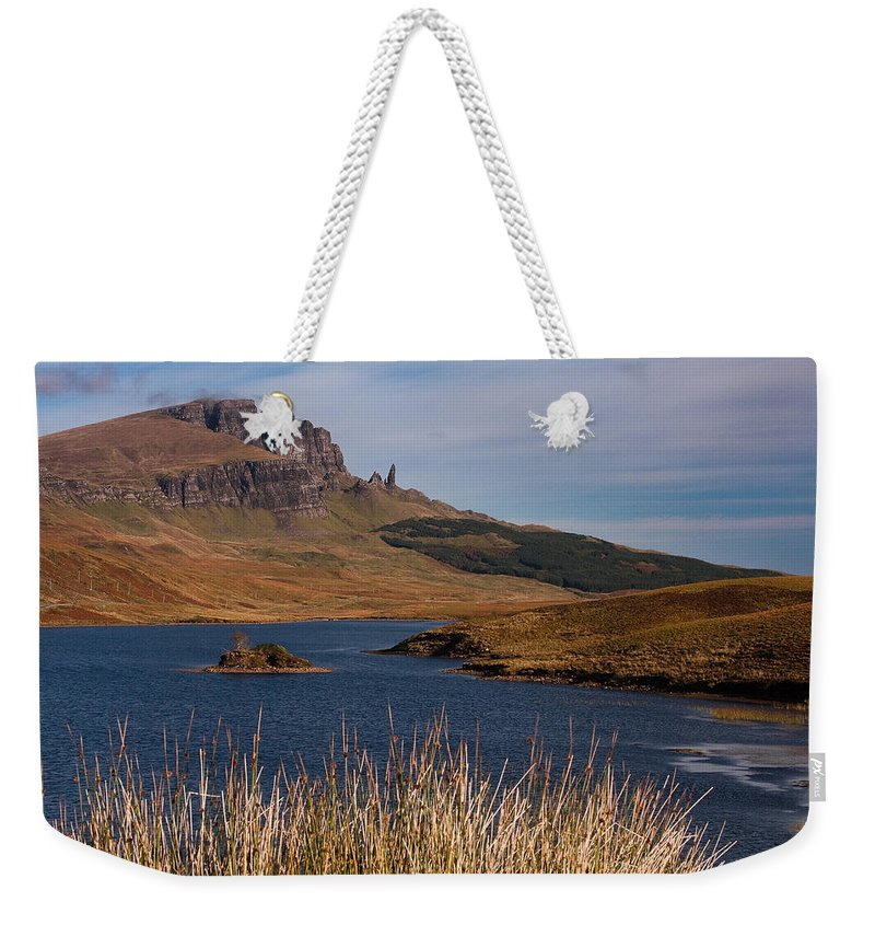 Scotland Weekender Tote Bag featuring the photograph The Storr by Colette Panaioti