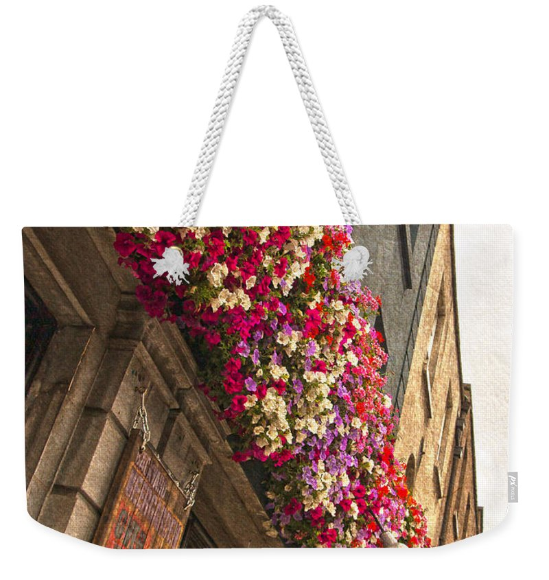 Street Lamps Weekender Tote Bag featuring the photograph The Street Lamps by Alex Art and Photo