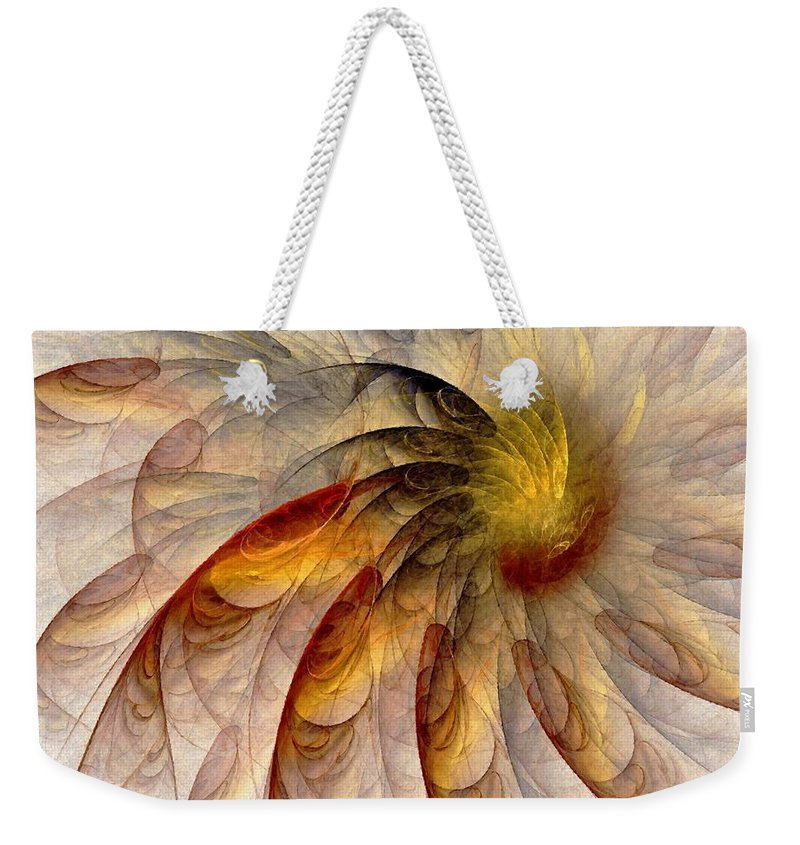 Sun Weekender Tote Bag featuring the digital art The Sun Do Move - Remembering Langston Hughes by NirvanaBlues