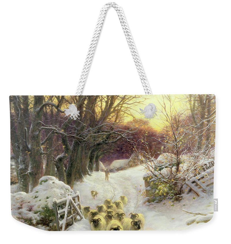 Sunset Weekender Tote Bag featuring the painting The Sun Had Closed The Winter's Day by Joseph Farquharson