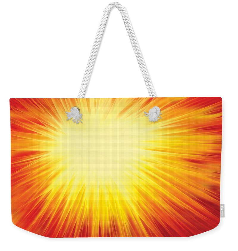 Solar System Weekender Tote Bag featuring the digital art The Sun by Rabi Khan