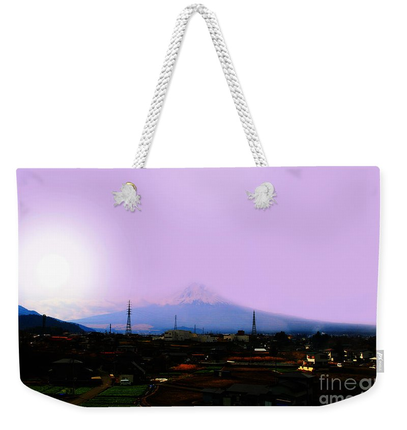 Japan Tsunami Weekender Tote Bag featuring the photograph The Sun Still Rises In Japan . All Proceeds Will Go To Japan Earthquake And Tsunami Relief Aid 2011 by Wingsdomain Art and Photography
