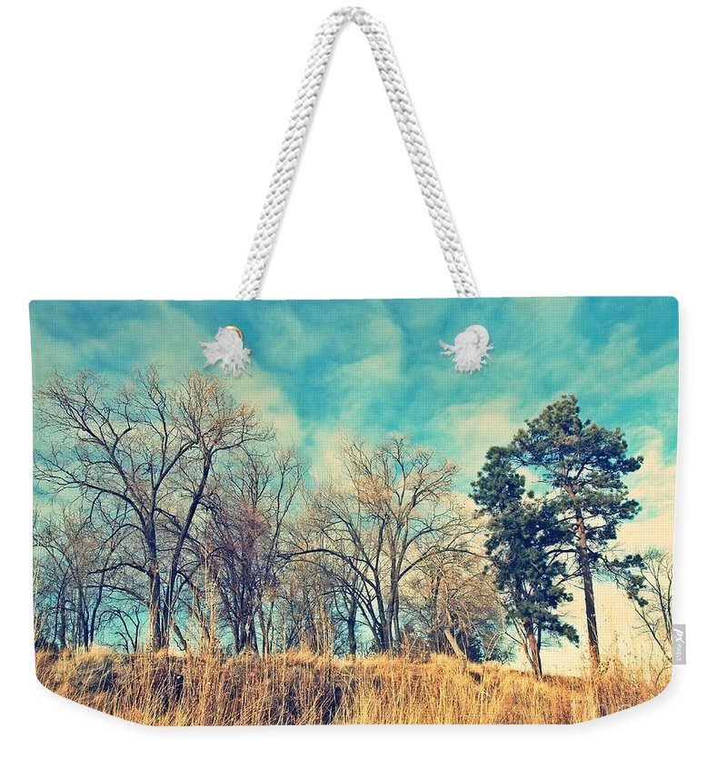 Cross Weekender Tote Bag featuring the photograph The Sunday Trees by Tara Turner