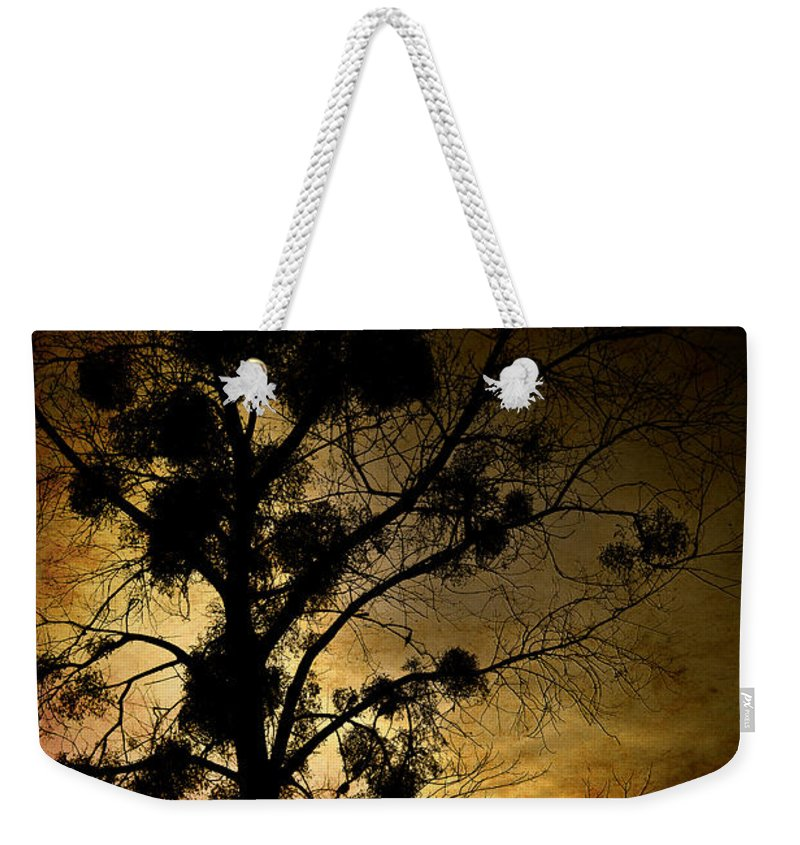 Loriental Weekender Tote Bag featuring the photograph The Sunset Tree by Loriental Photography