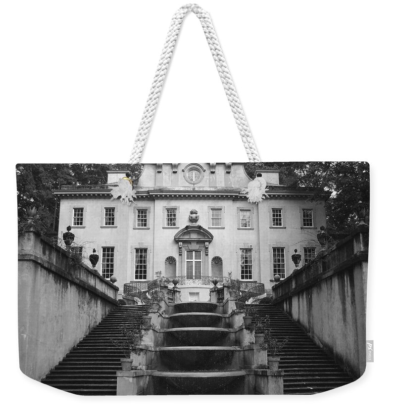 Historic Landmark Weekender Tote Bag featuring the photograph The Swan House by Robert Meanor