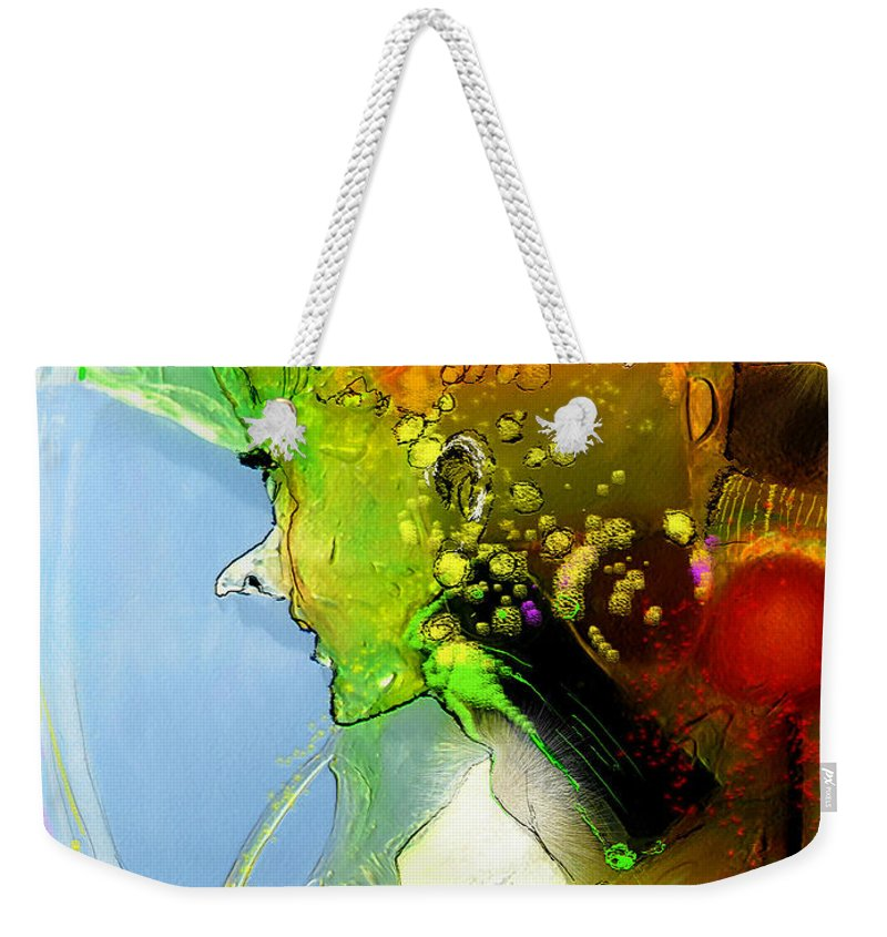 Weird Persons Weekender Tote Bag featuring the painting The Sweeties 01 by Miki De Goodaboom