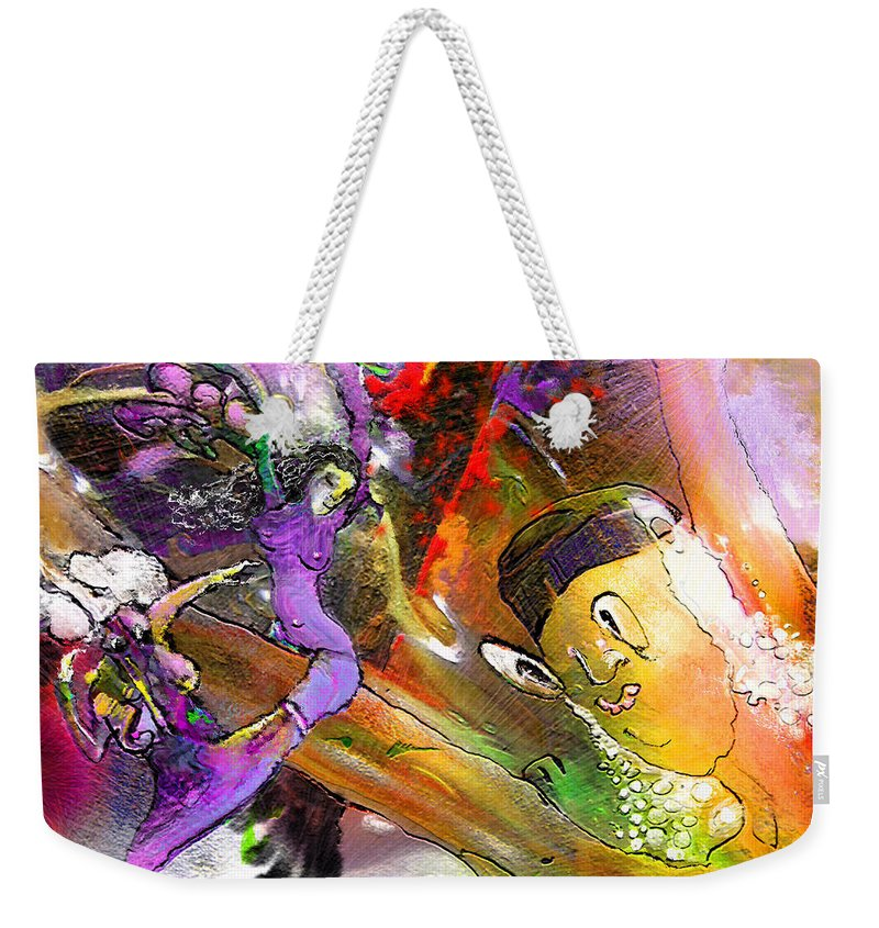 Fantasy Weekender Tote Bag featuring the painting The Sweeties 02 by Miki De Goodaboom