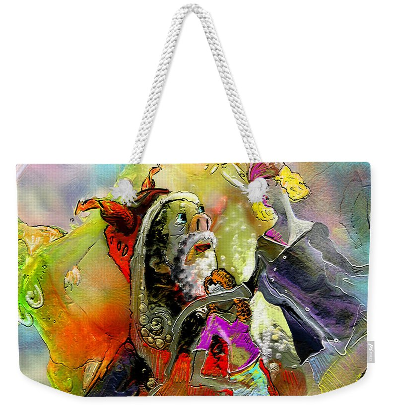 Fantasy Weekender Tote Bag featuring the painting The Sweeties 03 by Miki De Goodaboom