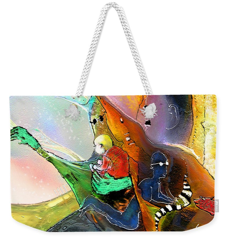 Fantasy Weekender Tote Bag featuring the painting The Sweeties 04 by Miki De Goodaboom