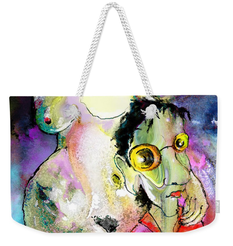 Fantasy Weekender Tote Bag featuring the painting The Sweeties 05 by Miki De Goodaboom