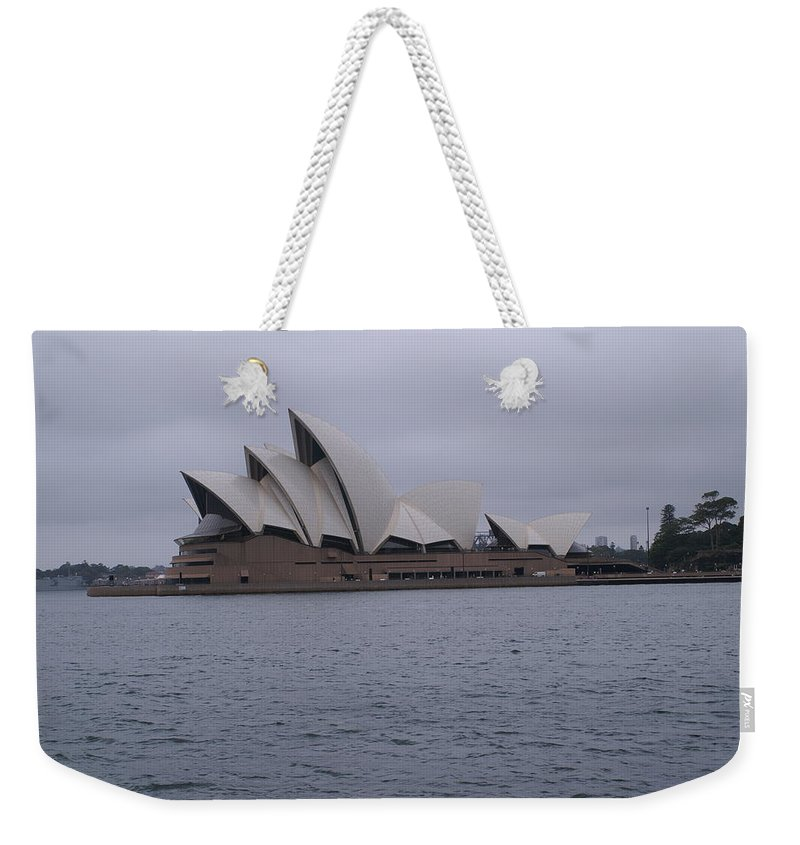 Photo Weekender Tote Bag featuring the pyrography The Sydney Opera House by Brian Leverton