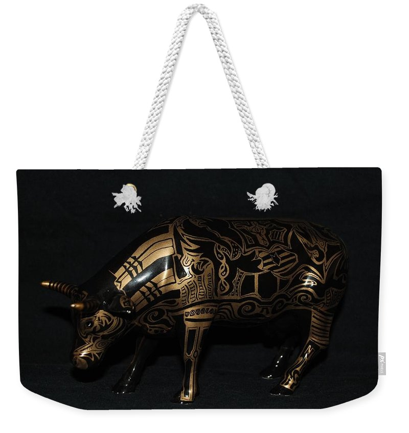 Tattoo Weekender Tote Bag featuring the photograph The Tattooed Cow by Rob Hans