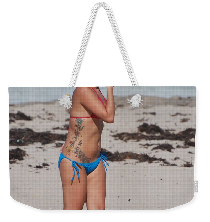 Sexy Weekender Tote Bag featuring the photograph The Tattooed Lady by Rob Hans