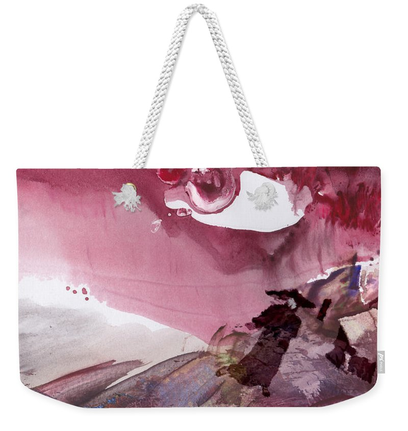 Fantasy. Japan Weekender Tote Bag featuring the painting The Tears Of Mont Fuji by Miki De Goodaboom