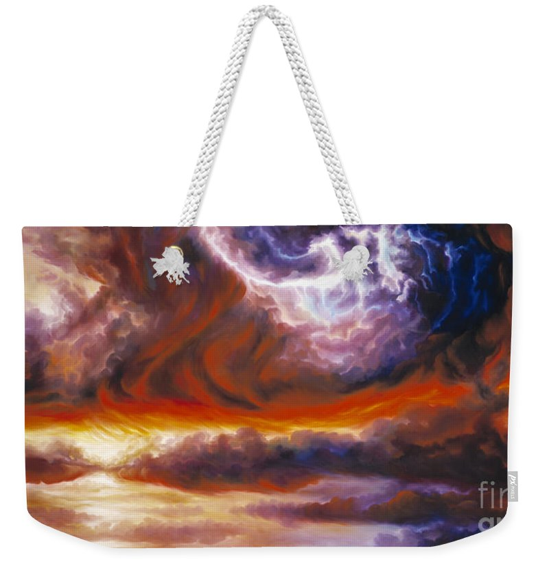 Tempest Weekender Tote Bag featuring the painting The Tempest by James Christopher Hill