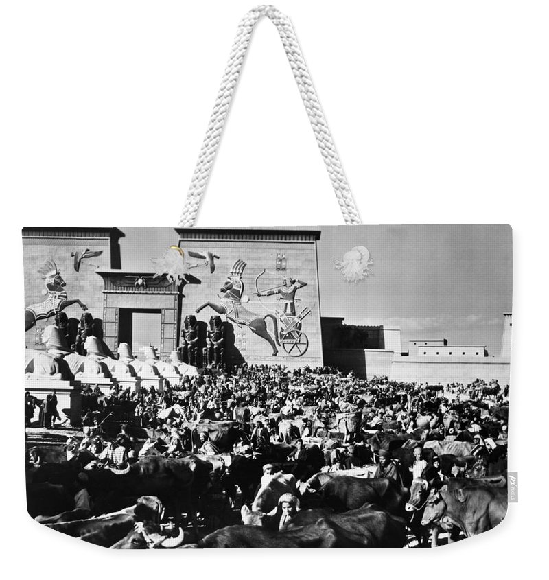 1923 Weekender Tote Bag featuring the photograph The Ten Commandments, 1923 by Granger