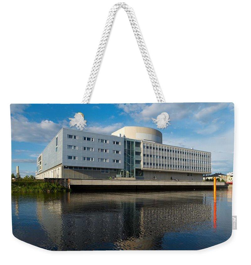 Lehtokukka Weekender Tote Bag featuring the photograph The Theatre Of Oulu 2 by Jouko Lehto