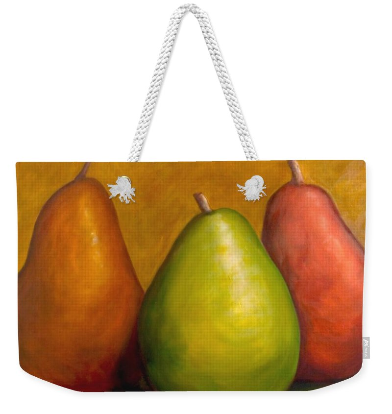 Brown Weekender Tote Bag featuring the painting The Three Amigos by Shannon Grissom