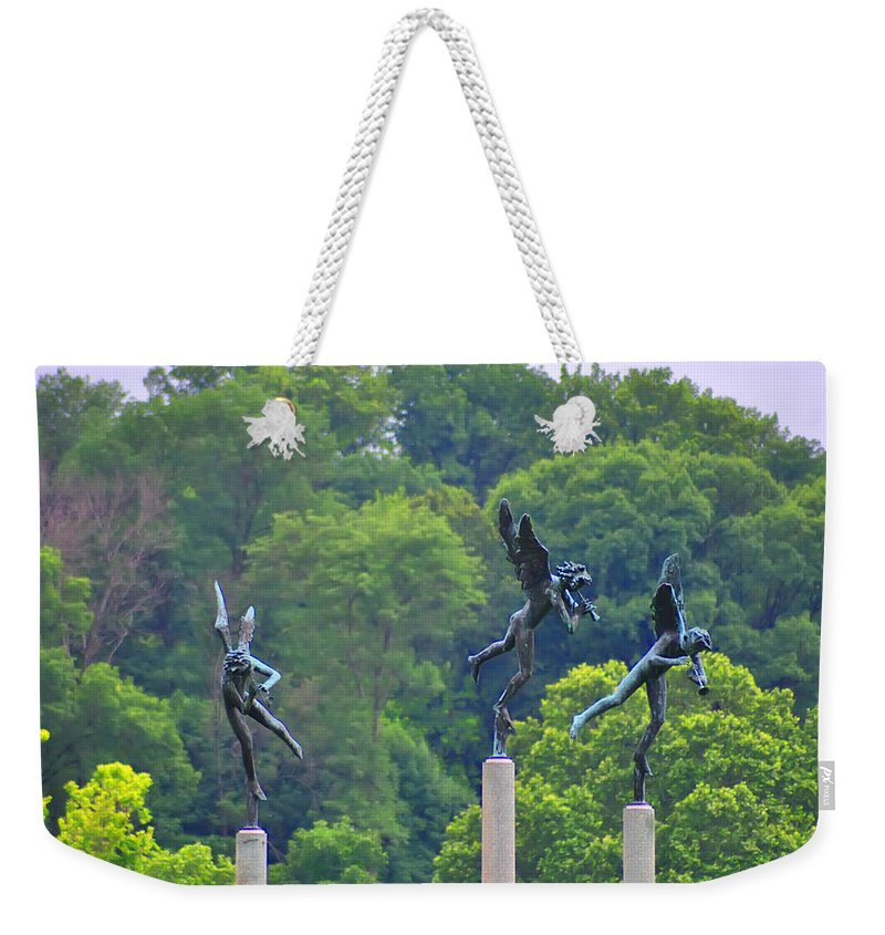 Angels Weekender Tote Bag featuring the photograph The Three Angels by Bill Cannon