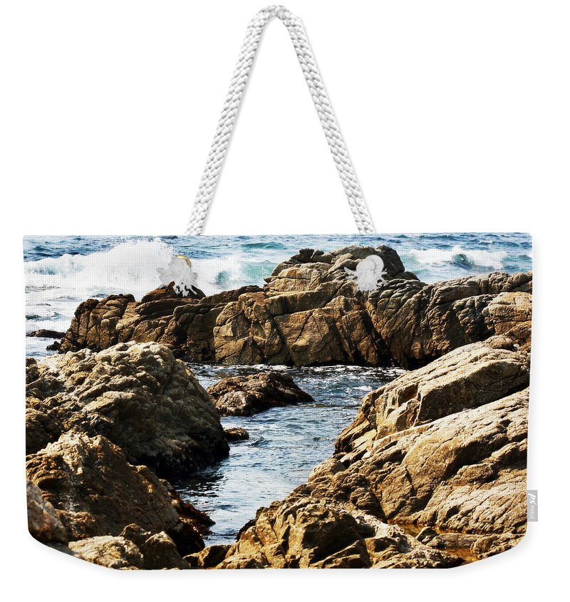Tide Weekender Tote Bag featuring the photograph The Tide Rushes In by Marilyn Hunt