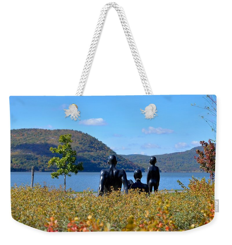 The Tides Weekender Tote Bag featuring the photograph The Tides And The Hudson by Kurt Von Dietsch