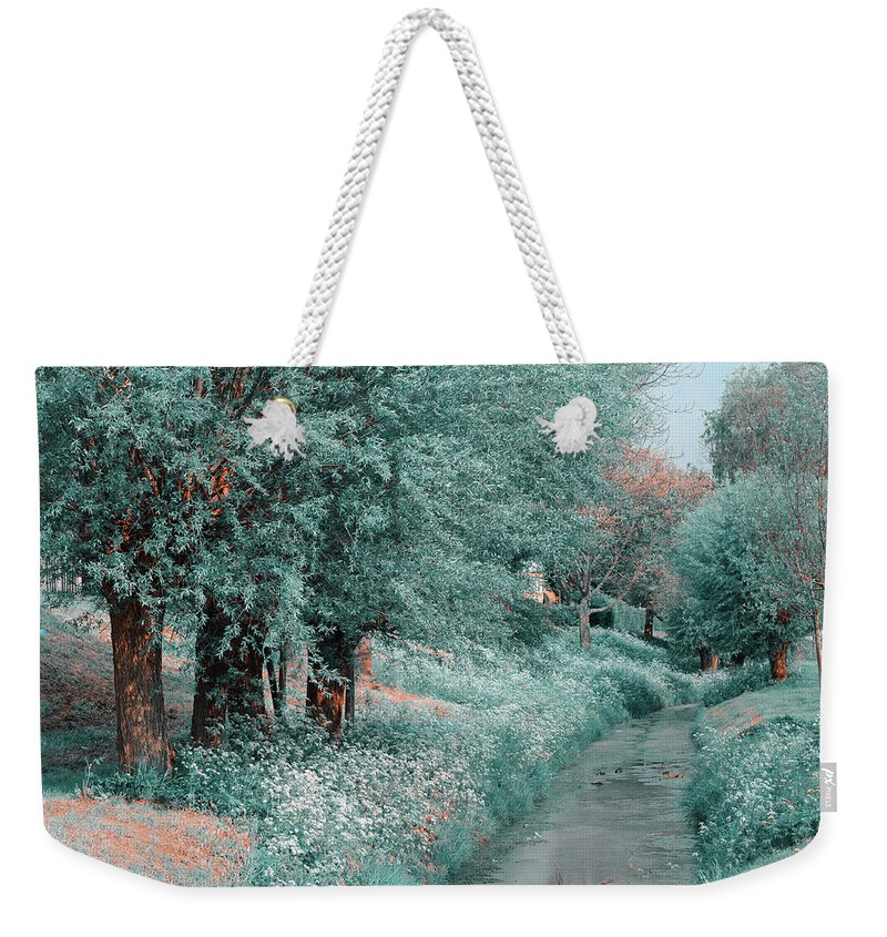 Jenny Rainbow Fine Art Photography Weekender Tote Bag featuring the photograph The Time Goes By. Nature In Alien Skin by Jenny Rainbow