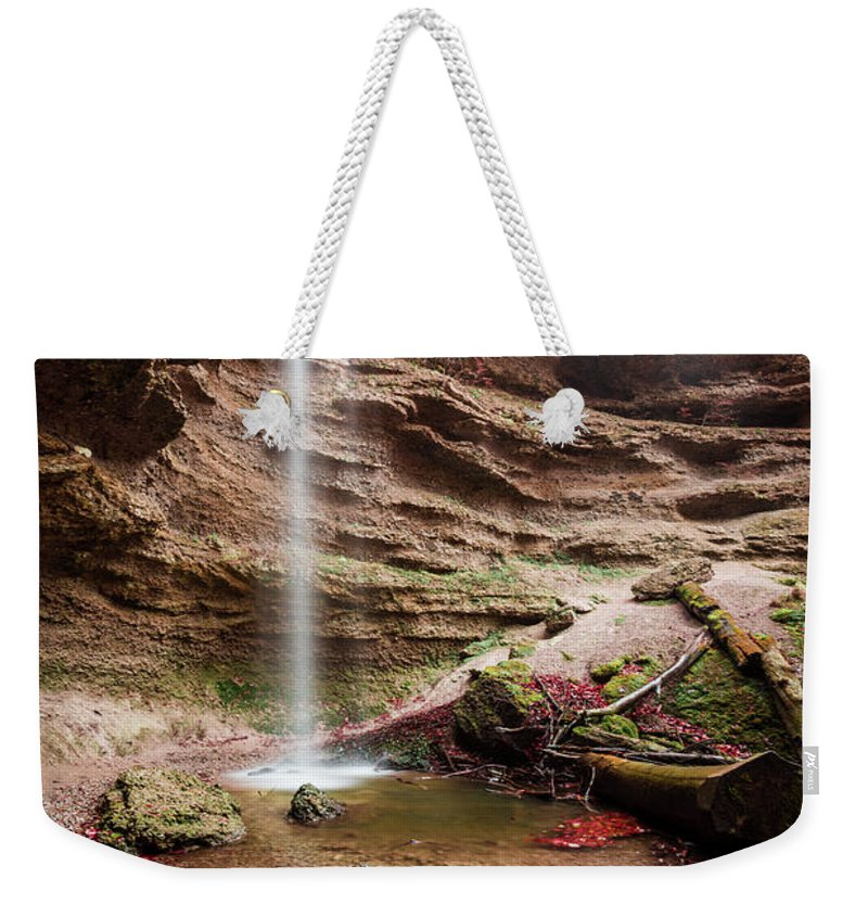 Autumn Weekender Tote Bag featuring the photograph The Tiny Waterfall by Hannes Cmarits