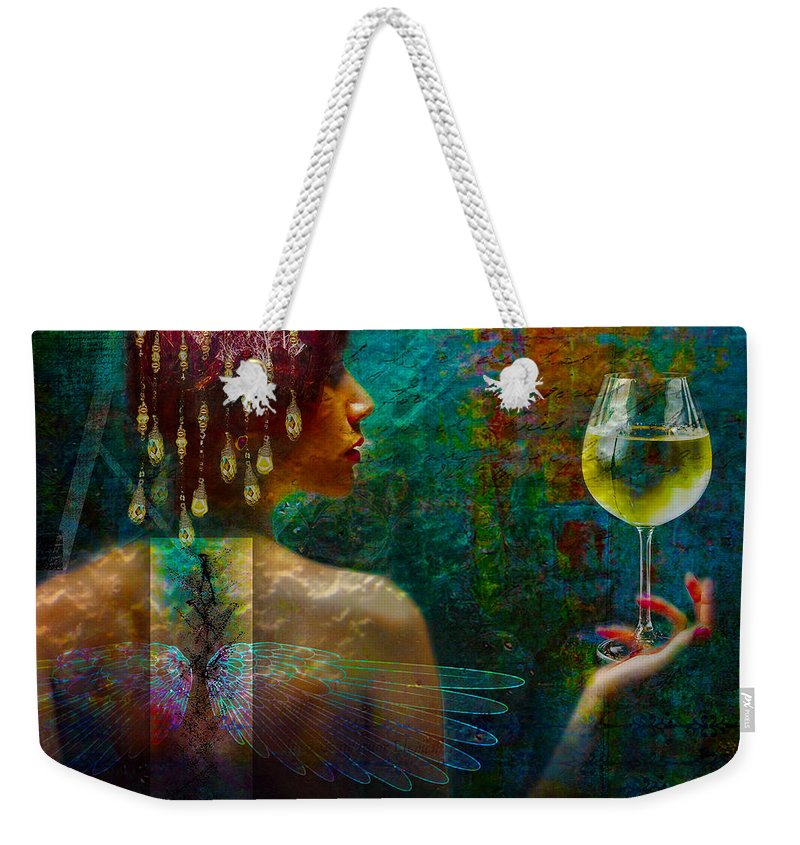 Fairy Weekender Tote Bag featuring the digital art The Toast by Christina Miles