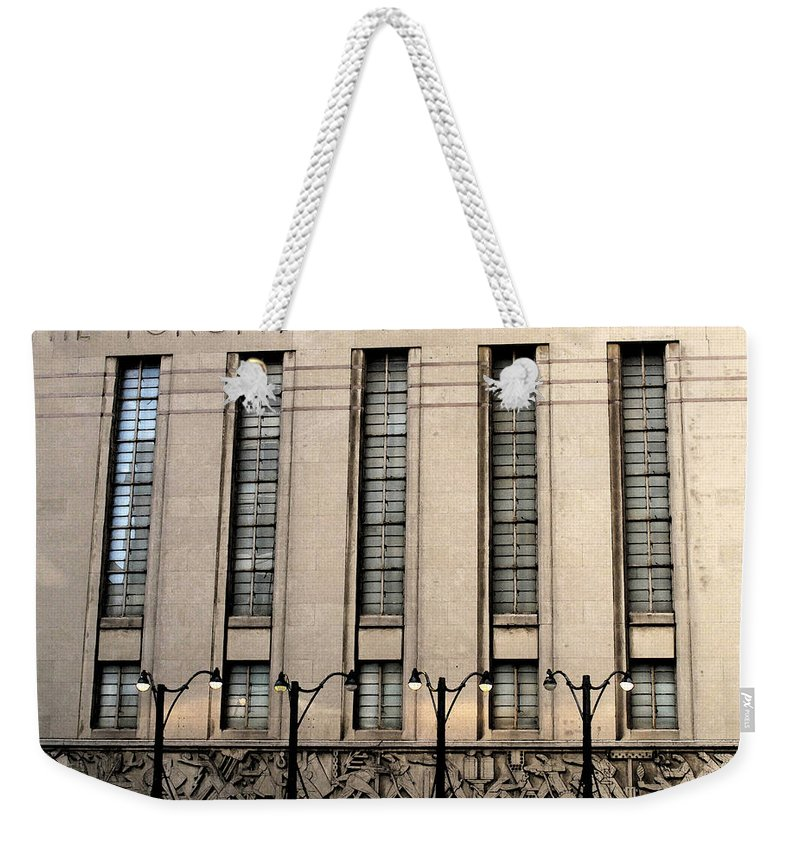 Toronto Weekender Tote Bag featuring the photograph The Toronto Stock Exchange by Ian MacDonald