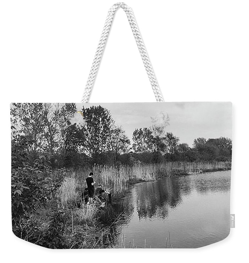 Water Weekender Tote Bag featuring the photograph Moving the Water by Frank J Casella