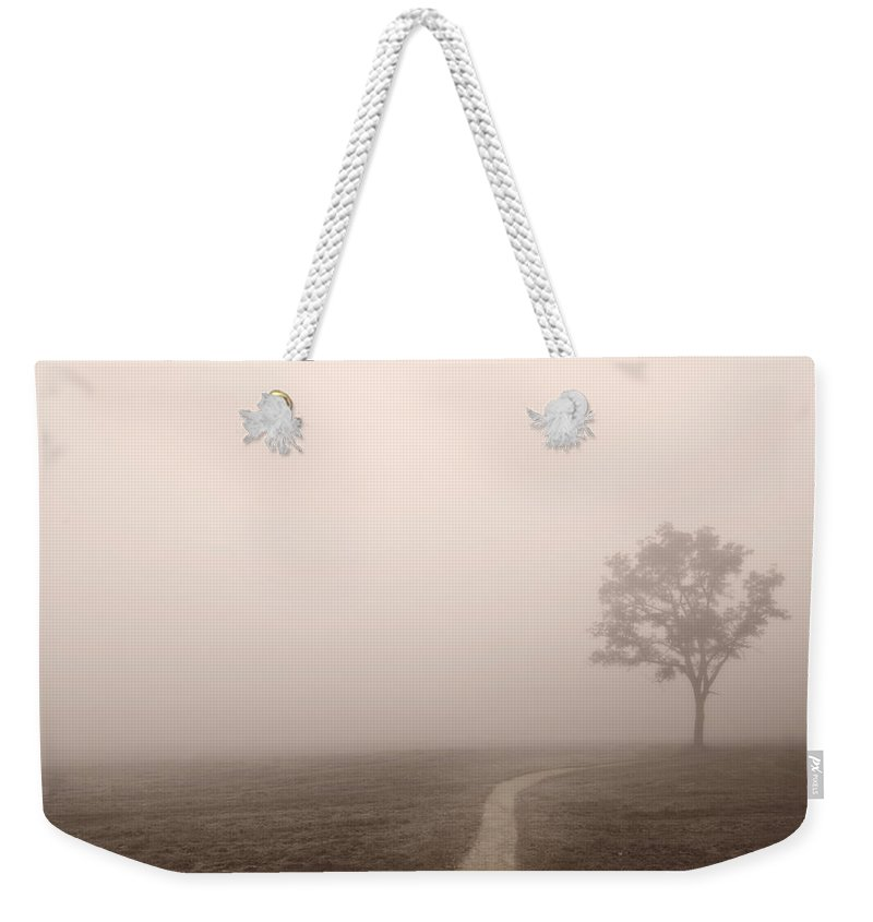 Cade Weekender Tote Bag featuring the photograph The Trail by Steve Gadomski