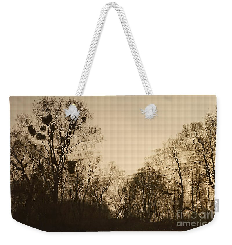 Landscape Weekender Tote Bag featuring the photograph The Trees With Mistletoe. by Alexander Vinogradov