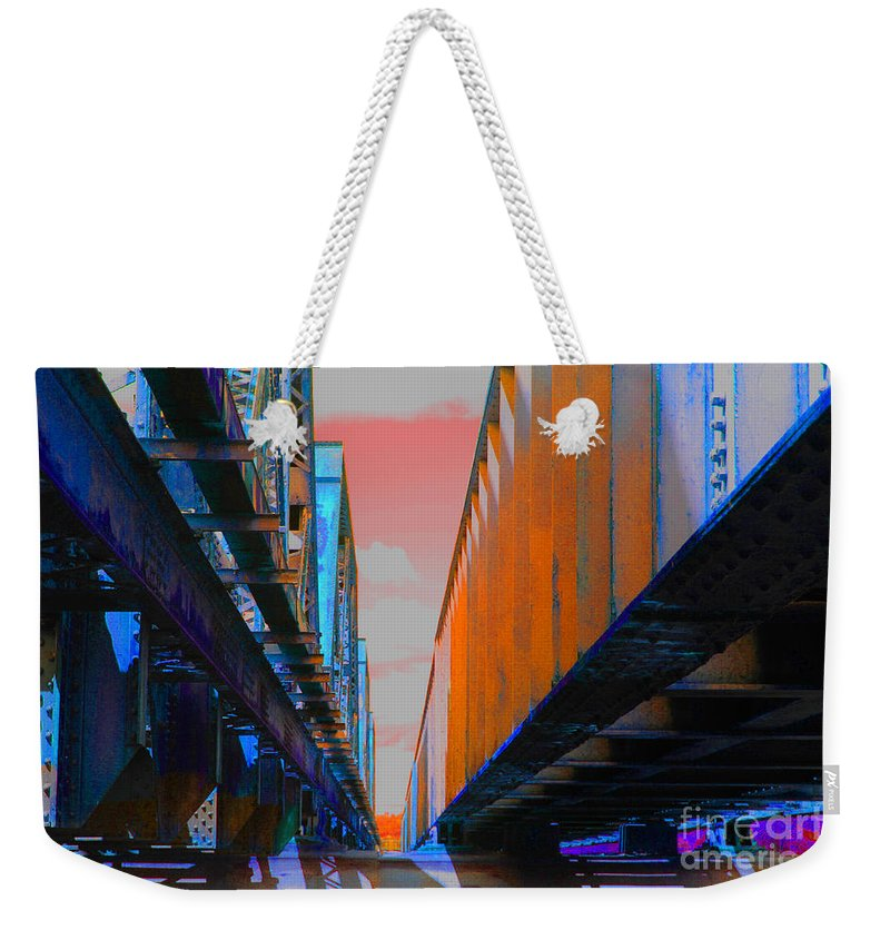Weekender Tote Bag featuring the photograph The Trestle by D L Gerring