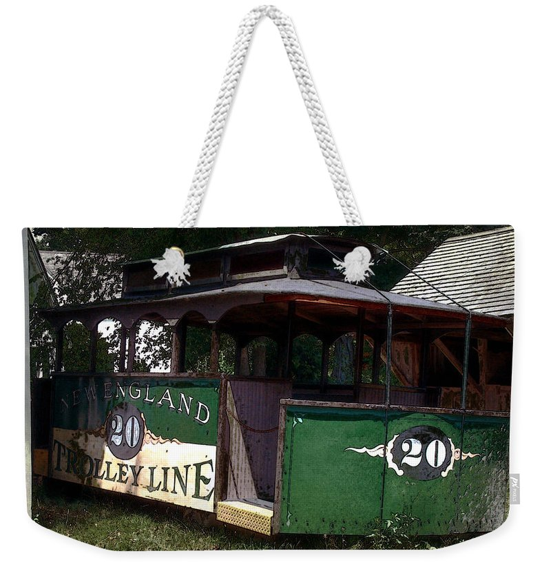 Trolley Weekender Tote Bag featuring the digital art The Trolley Out Back by RC DeWinter